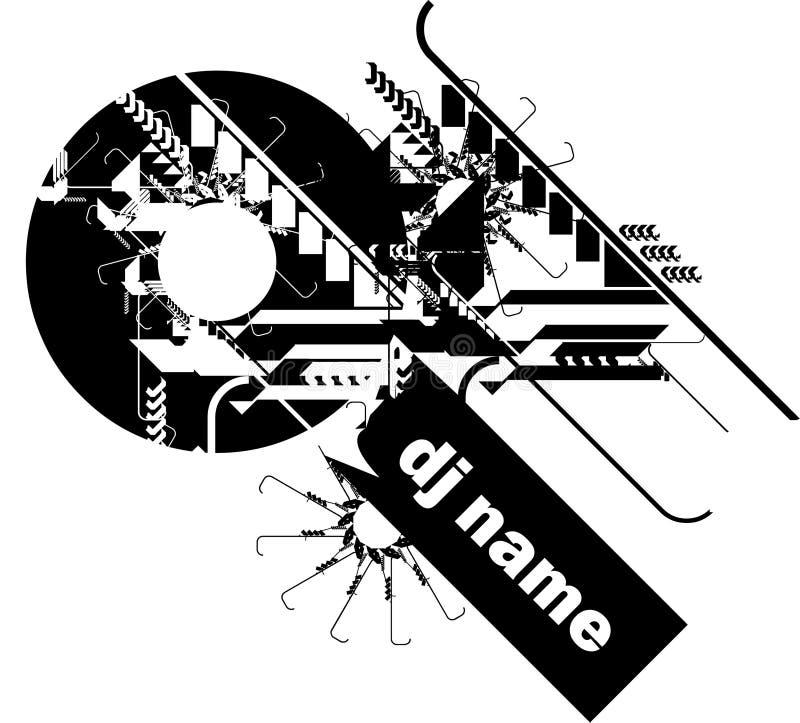 O DJ cobre ilustração do vetor