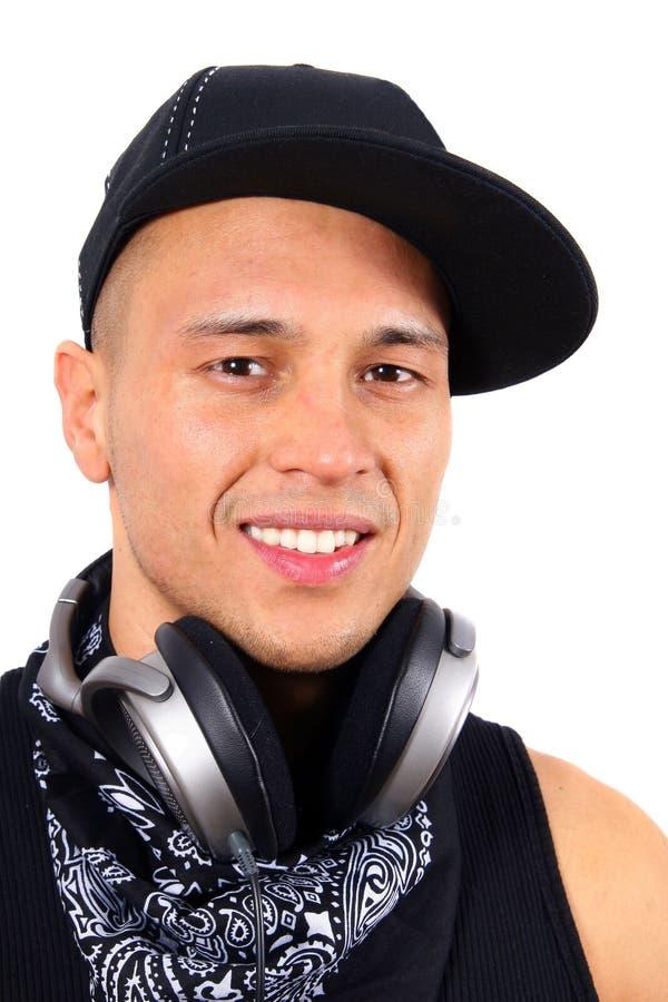 O DJ está sorrindo fotografia de stock royalty free
