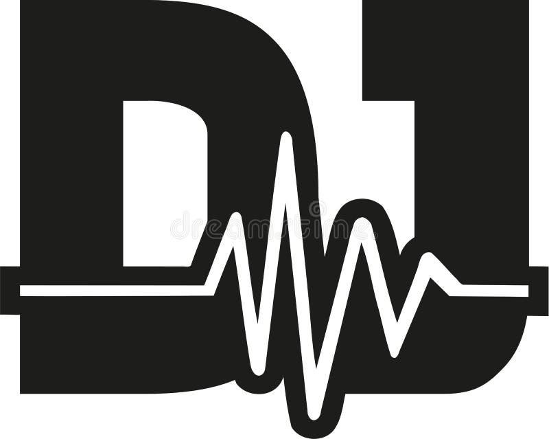 O DJ exprime com soundwave ilustração royalty free