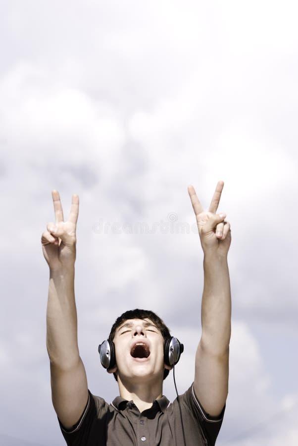 O DJ grita fotografia de stock royalty free