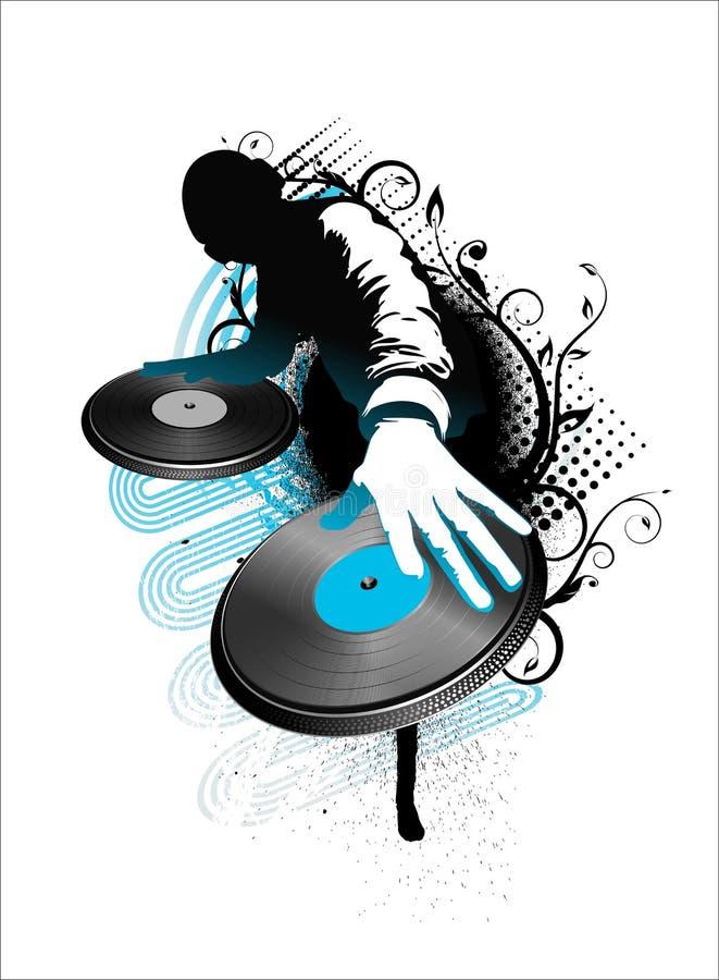 O DJ mistura