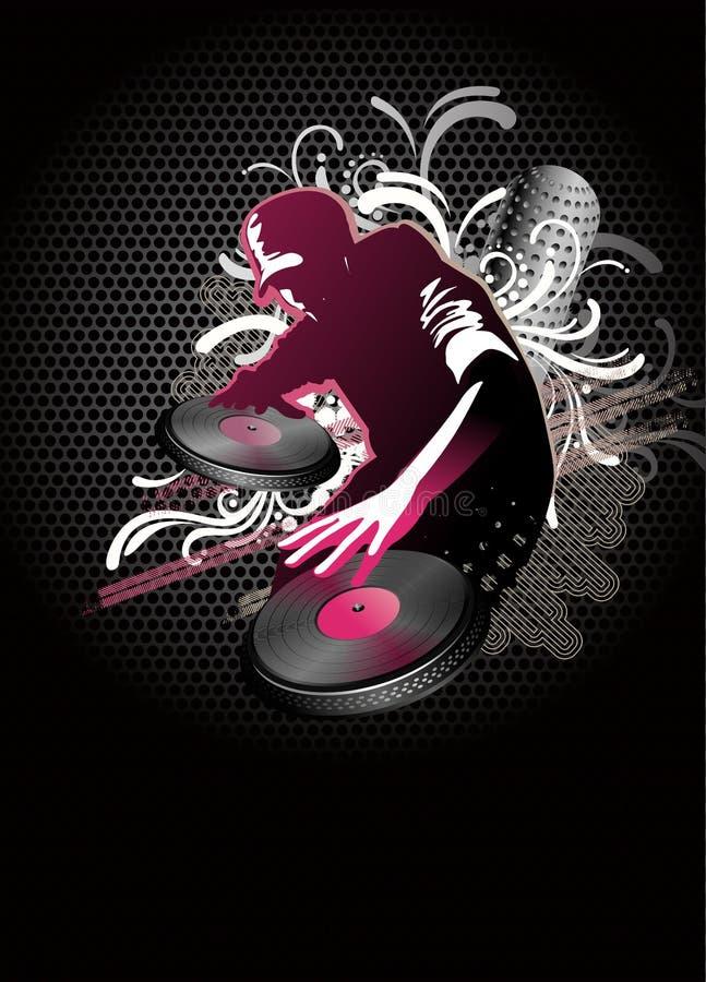O DJ mistura - o vetor ilustração stock