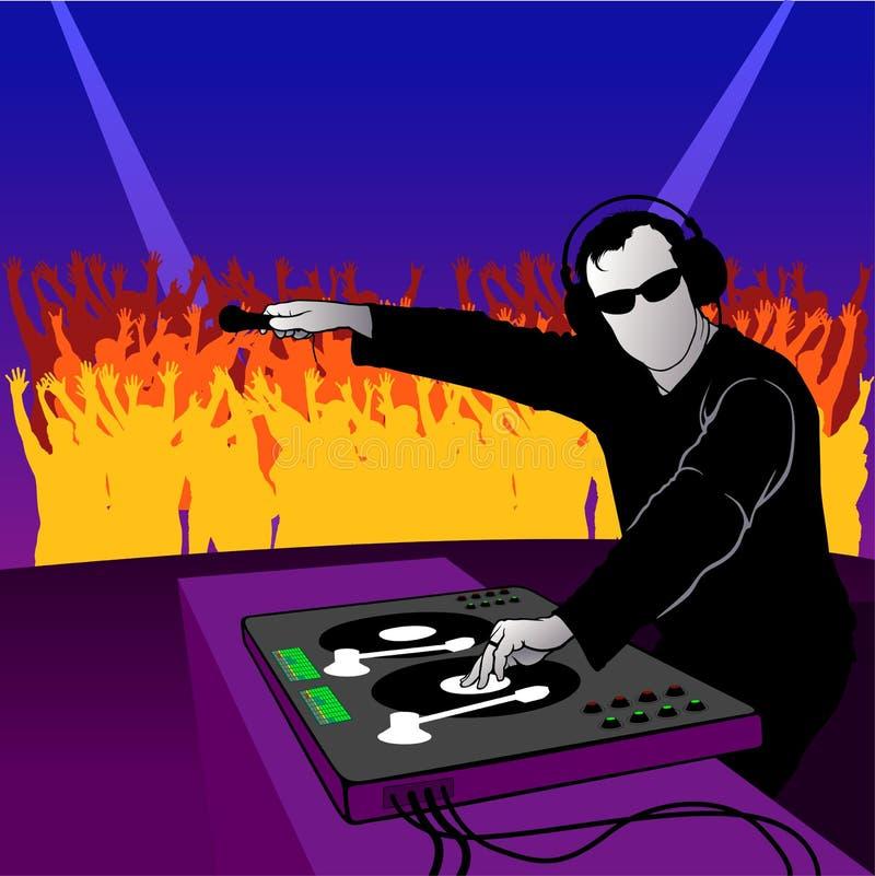 O DJ party a dança ilustração royalty free