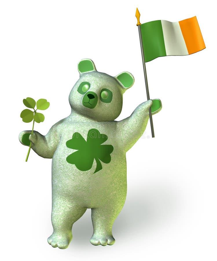 O _ do urso do Irish inclui o trajeto de grampeamento ilustração royalty free