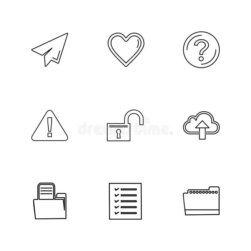 o dobrador, arquivos, diretório, busca, código, ícones do eps ajustou o vecto ilustração do vetor