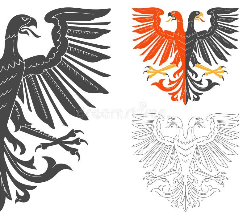 O dobro dirigiu Eagle Illustration ilustração royalty free