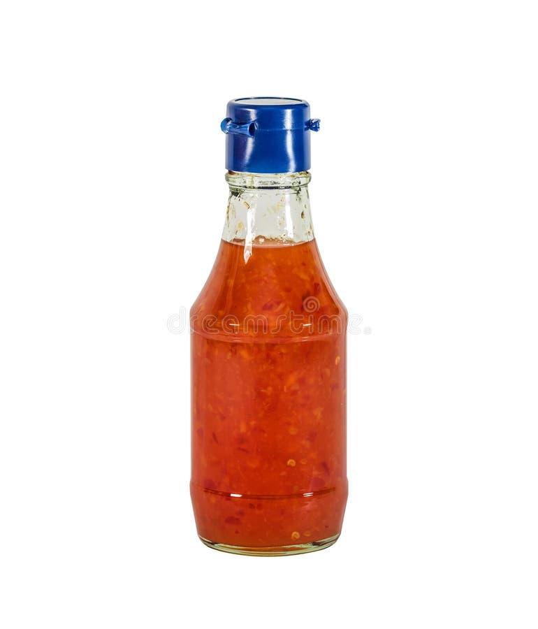 O doce do molho do Chile em uma garrafa imagens de stock royalty free