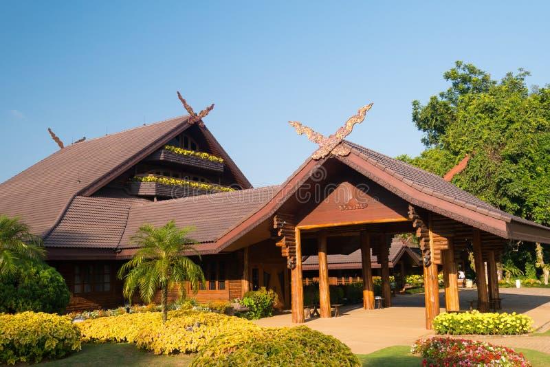 O Doi Tung Royal Villa na vila de Doi Tung imagem de stock