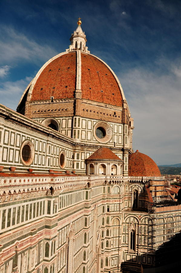 O domo de Florença, Italy fotos de stock