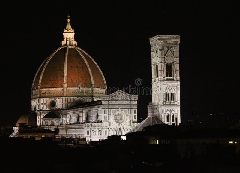 O domo e a torre de Bell Florença de Giotto, Itália fotos de stock