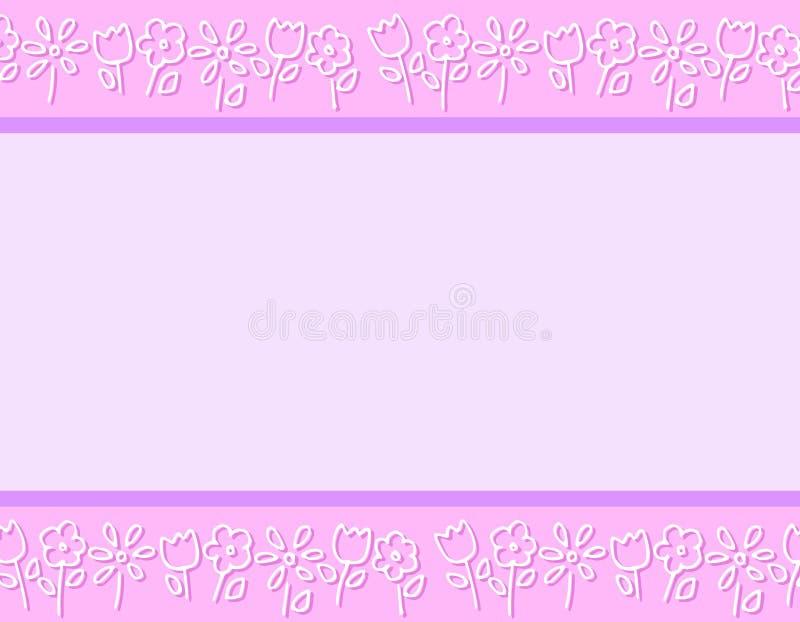O Doodle roxo da mola floresce beiras ilustração stock
