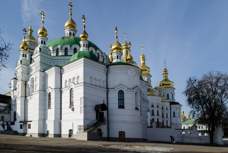 O Dormition santamente Kiev-Pechersk Lavra imagens de stock