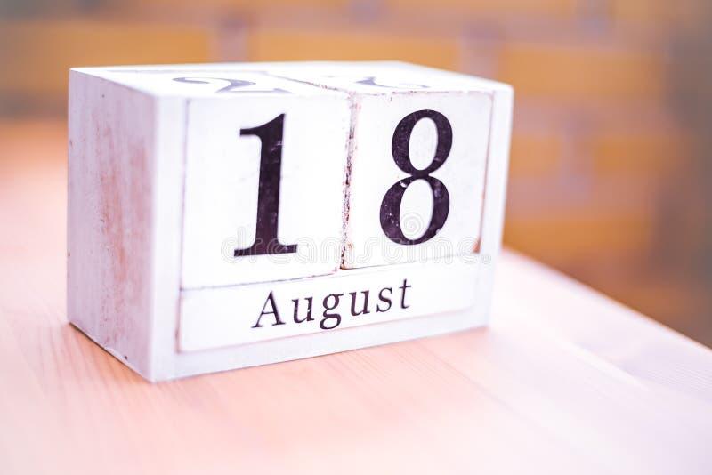 18o dos de agosto-agosto de 18 - aniversário - dia internacional - dia nacional imagens de stock