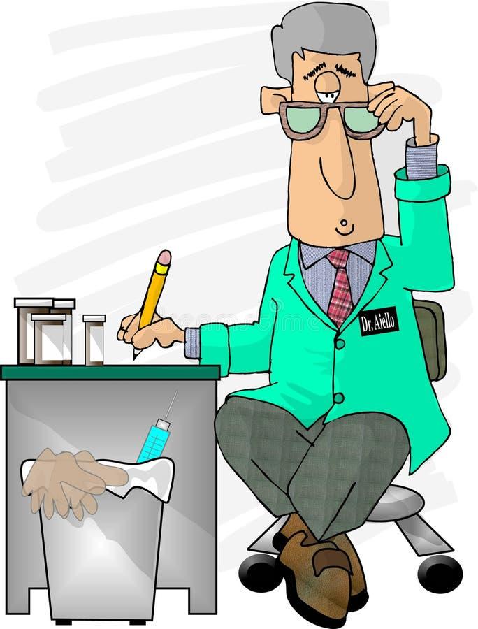 O doutor está dentro ilustração do vetor