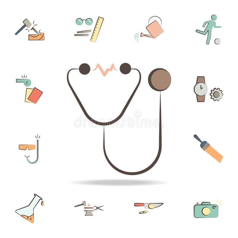 o doutor utiliza ferramentas o ícone Grupo detalhado de ferramentas de vários ícones da profissão Projeto gráfico superior Um dos ilustração do vetor