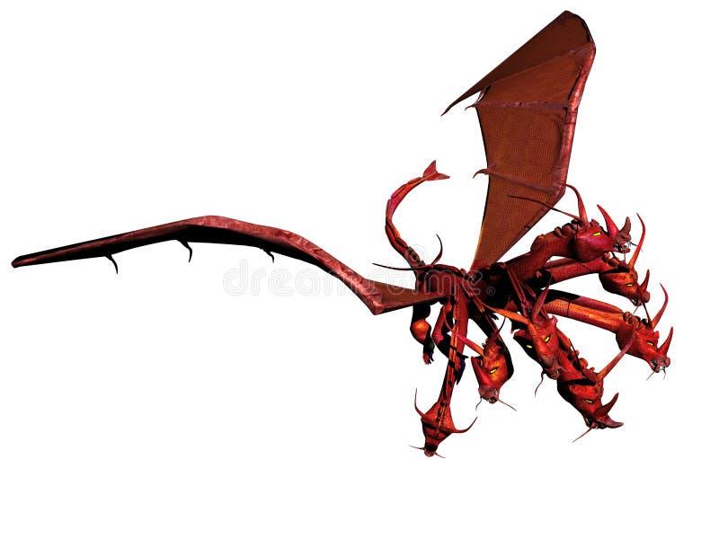O dragão vermelho ilustração stock