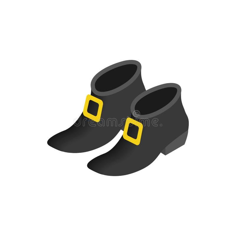O duende preto carreg o ícone 3d isométrico ilustração royalty free