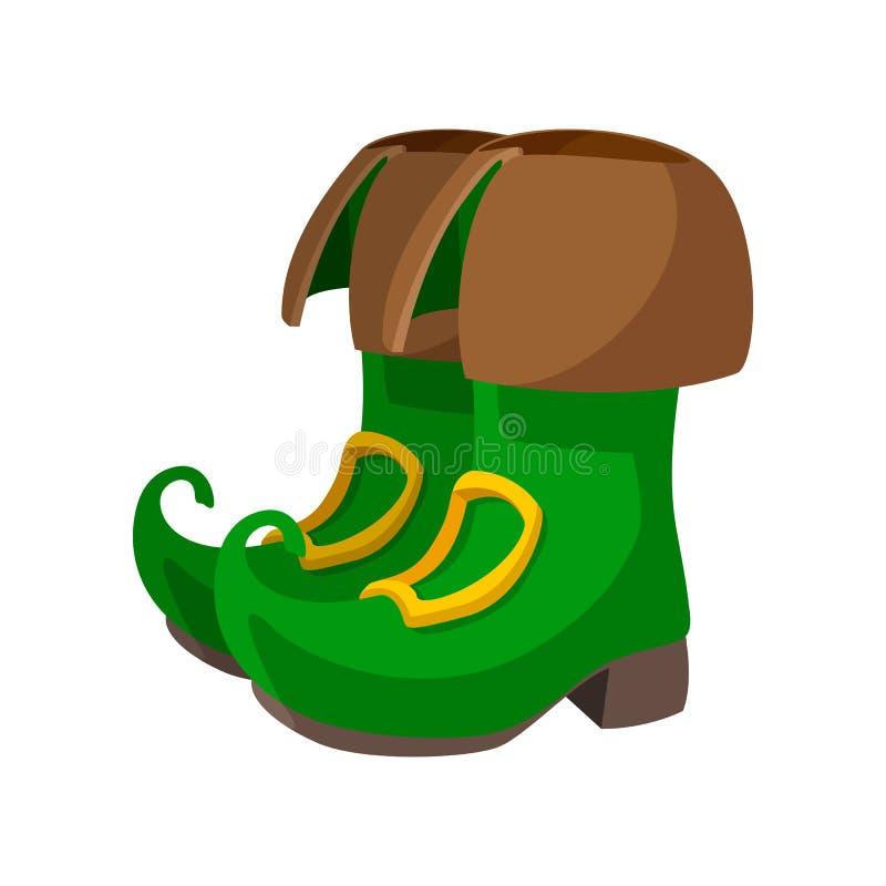 O duende verde carreg o ícone dos desenhos animados ilustração stock