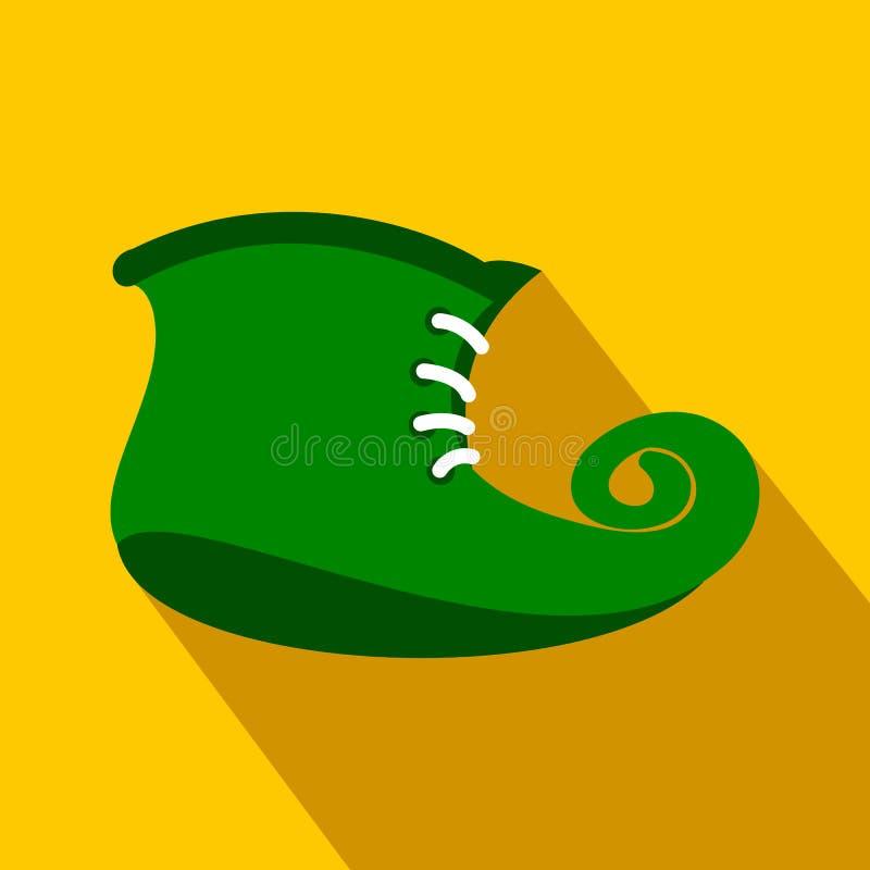 O duende verde carreg o ícone liso ilustração stock
