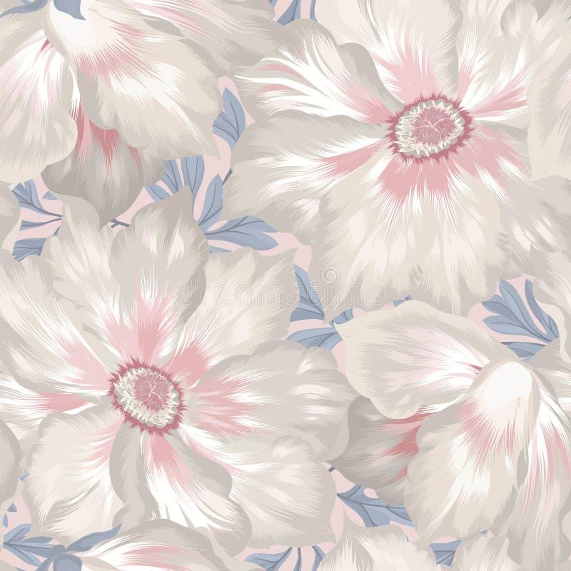 o E 华丽与花的铺磁砖的墙纸 向量例证