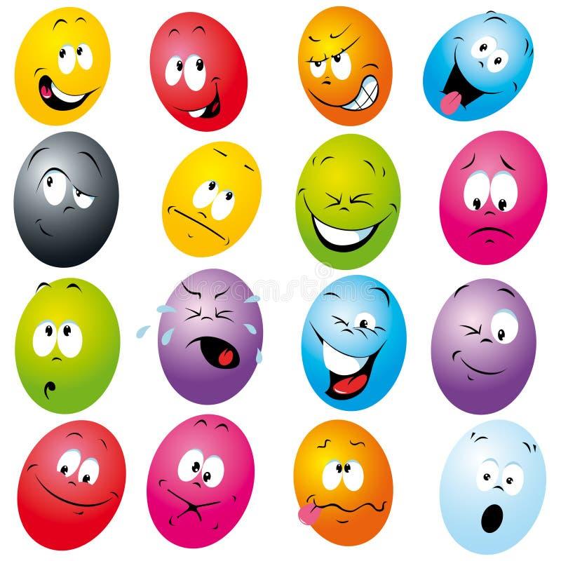 O eatser da cor eggs desenhos animados ilustração stock