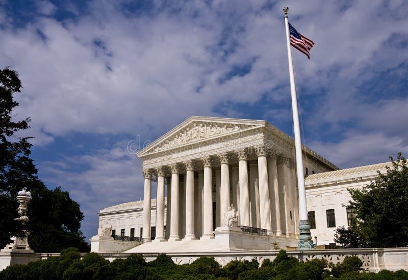 O edifício da corte suprema de Estados Unidos fotografia de stock