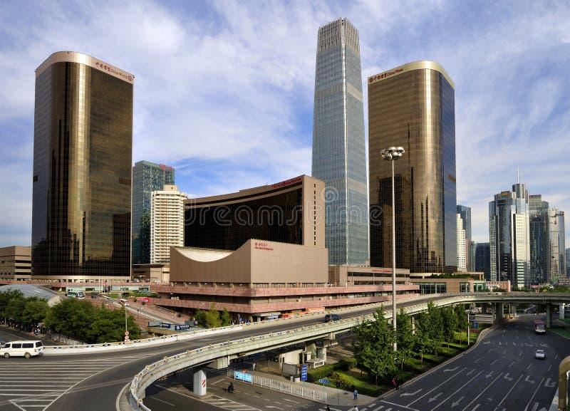 O edifício de CBD, skyline de Beijing imagens de stock