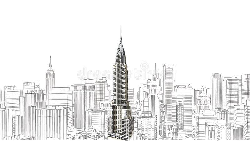 O edifício de Chrysler ilustração royalty free