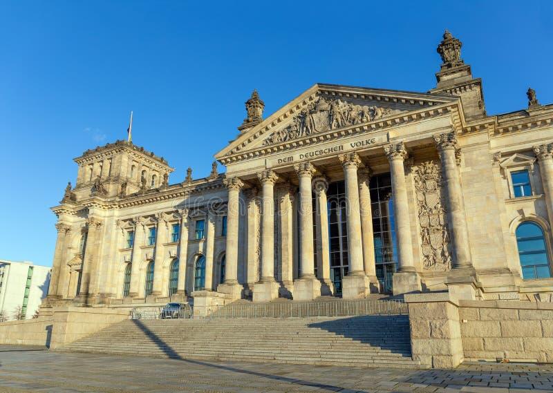 O edifício de Reichstag em Berlim, Alemanha imagem de stock