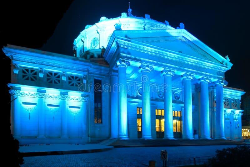 O edifício do Atheneum em Bucareste, Romania. foto de stock royalty free