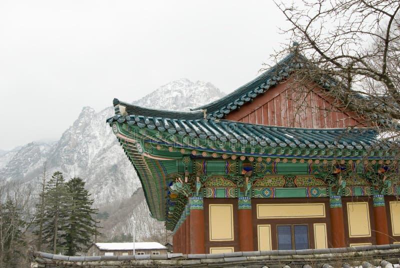 O edifício velho em Coreia do Sul fotos de stock royalty free