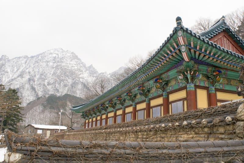 O edifício velho em Coreia do Sul fotografia de stock