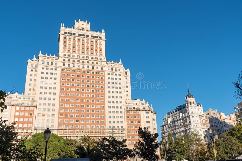 O Edificio Espana no Madri, Espanha imagens de stock royalty free