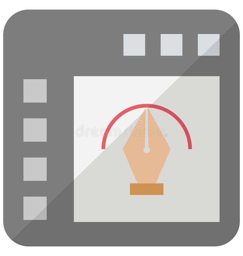 O editor de gráficos Isometric isolou o ícone do vetor que pode facilmente ser alterado ou editado ilustração stock