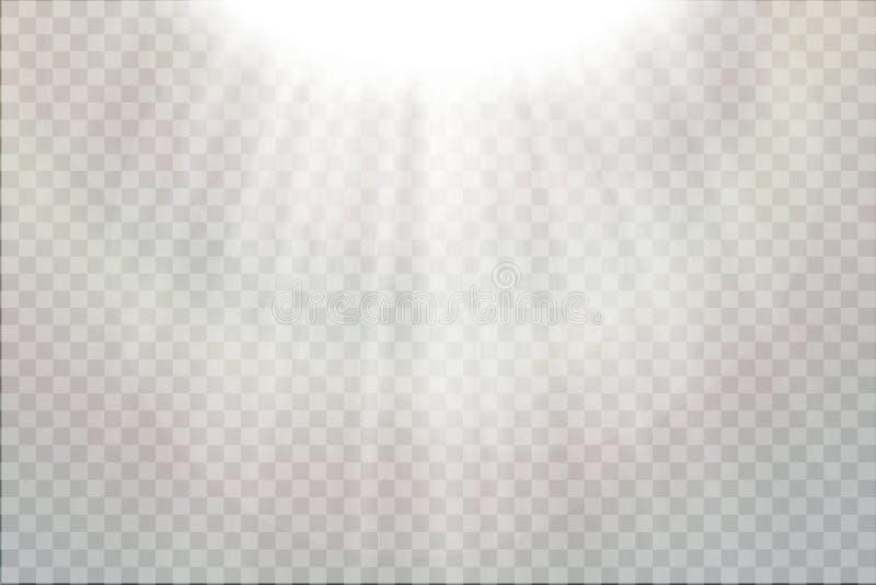 O efeito especial do alargamento claro com raios de luz e de mágica sparkles Ilustração do vetor ilustração do vetor