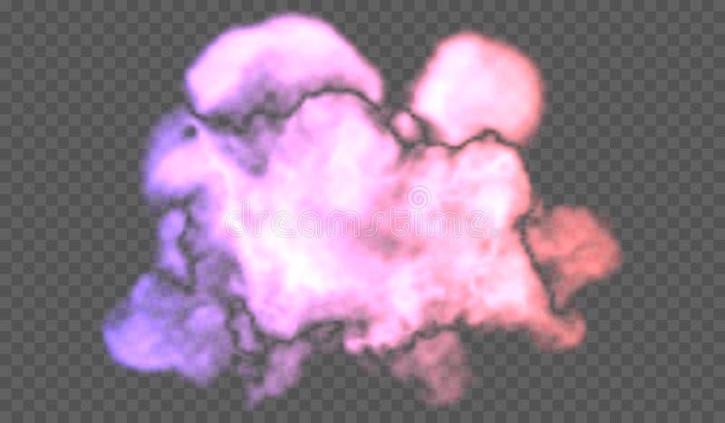 O efeito especial transparente está para fora com névoa ou fumo Nuvem, névoa ou poluição atmosférica branca fotos de stock