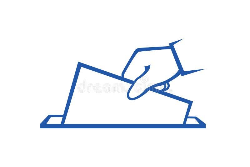 O eleitor está jogando o iilustration do vetor da cédula ilustração do vetor