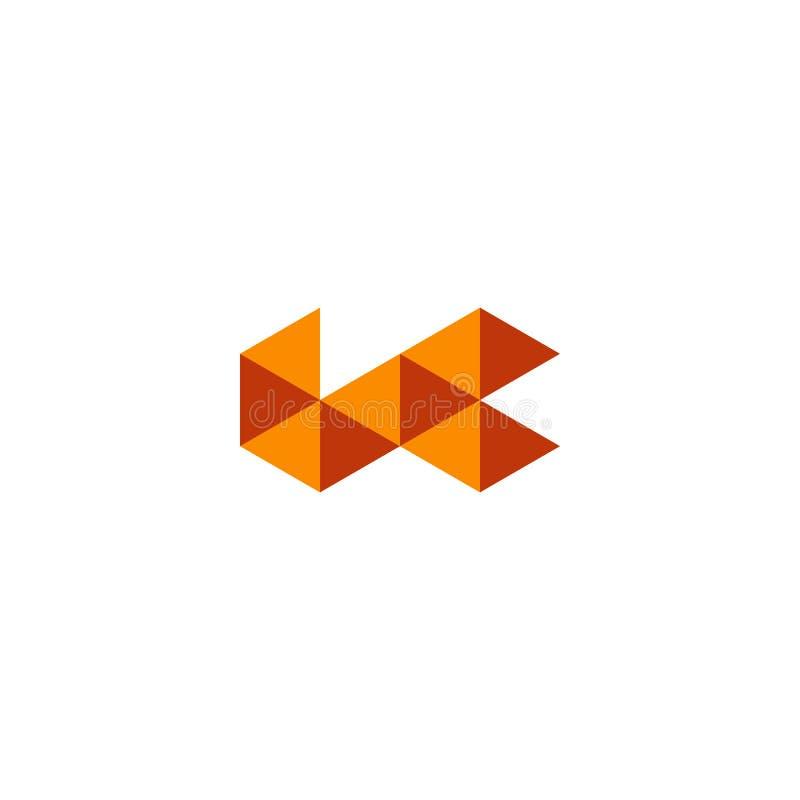 o elemento abstrato triangular do ícone da ilustração do vetor da inspiração do logotipo isolou-se ilustração do vetor