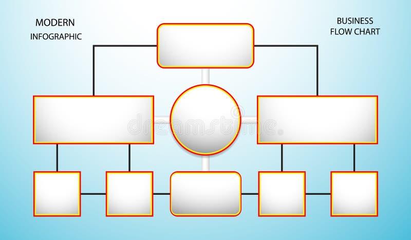 O elemento de Infographics da informação do fluxograma conecta o mercado do diagrama do negócio dos dados na luz - ilustração azu ilustração royalty free