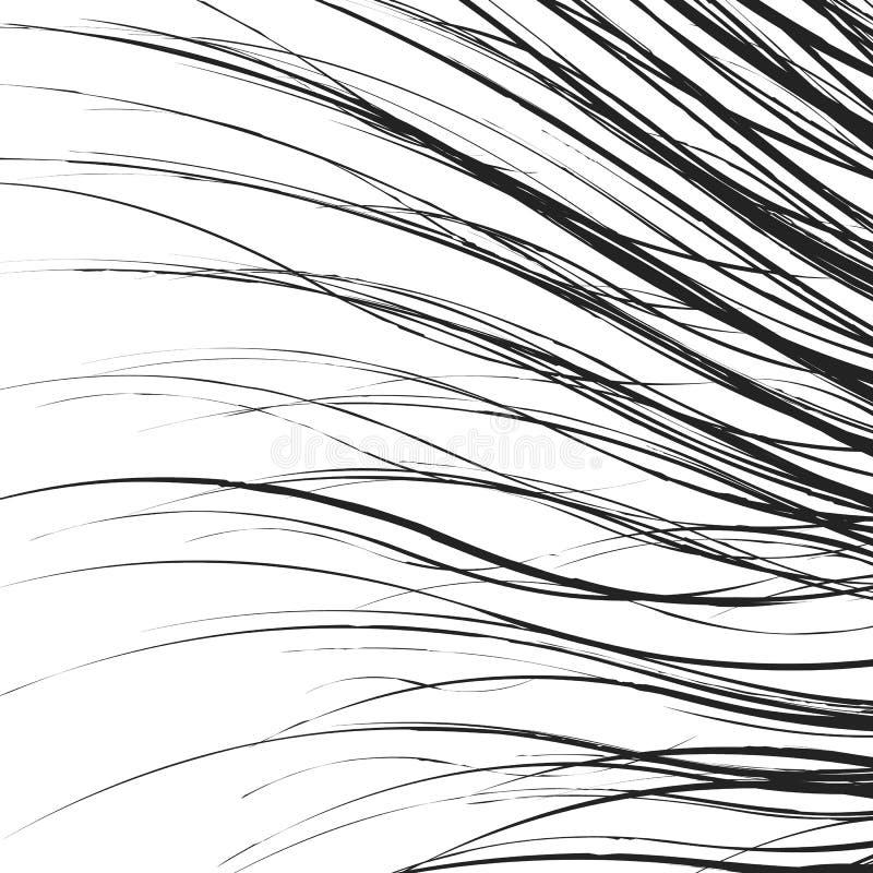 O elemento, teste padrão com ondulado, distorceu linhas Geométrico abstrato ilustração do vetor