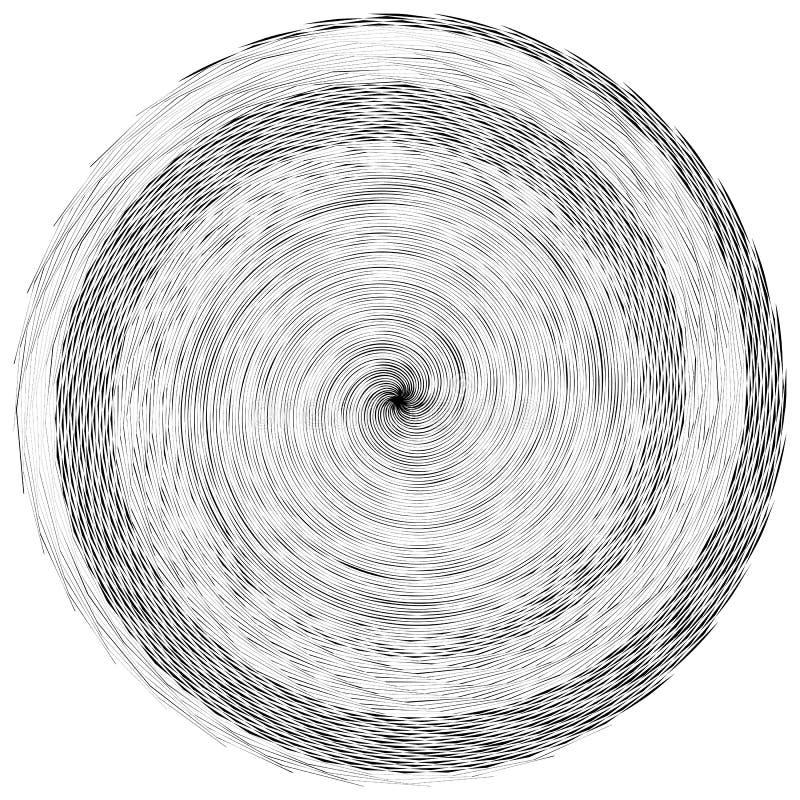 O elemento, teste padrão com ondulado, distorceu linhas Geométrico abstrato ilustração stock
