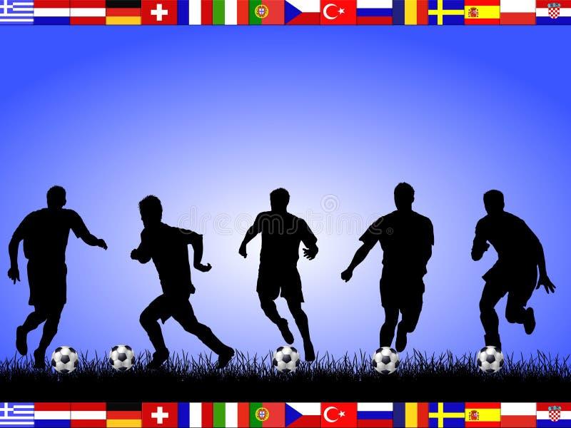 O em do futebol teams 2008 ilustração stock