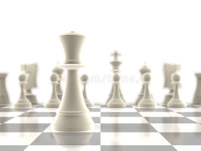O em-foco da parte de xadrez da rainha ilustração stock