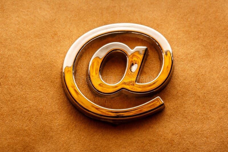 O email internacional assina dentro o close up fotografia de stock royalty free