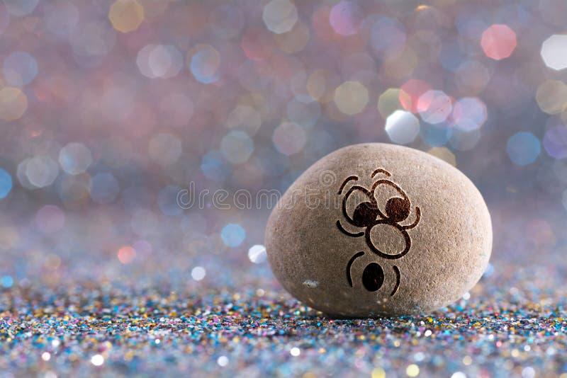 O emoji da pedra da maravilha fotografia de stock royalty free
