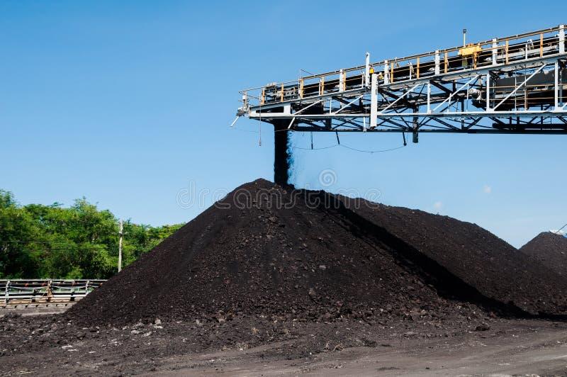 O empilhador de carvão e o Reclaimer de carvão são maquinaria de mineração, ou equipamento de mineração no setor mineiro como a p foto de stock