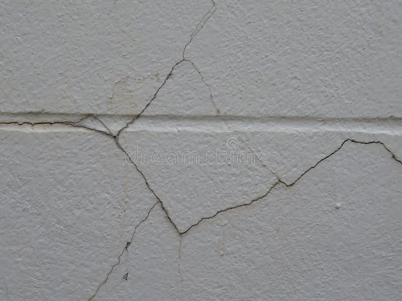 o emplastro curado Baixo-qualidade rachará facilmente a parede fotos de stock