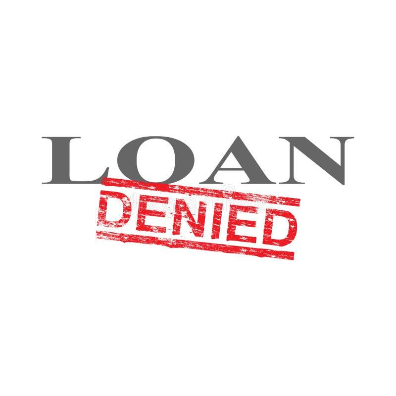O empréstimo negou o selo da palavra ilustração stock