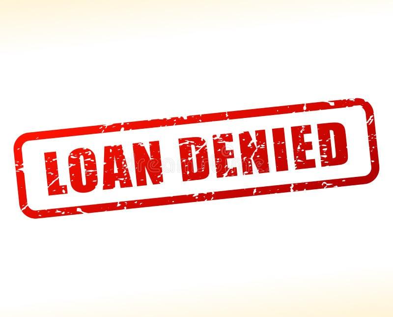 O empréstimo negou o texto protegido ilustração royalty free