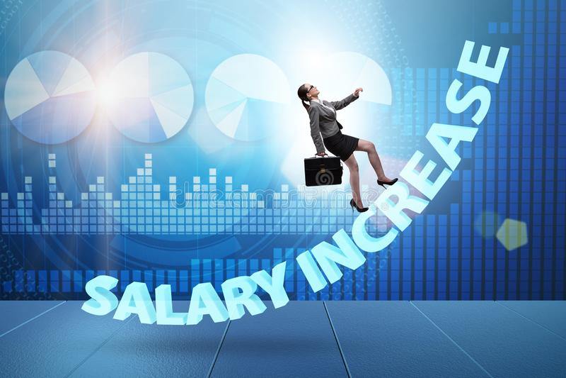 O empregado no conceito do aumento salarial fotografia de stock royalty free